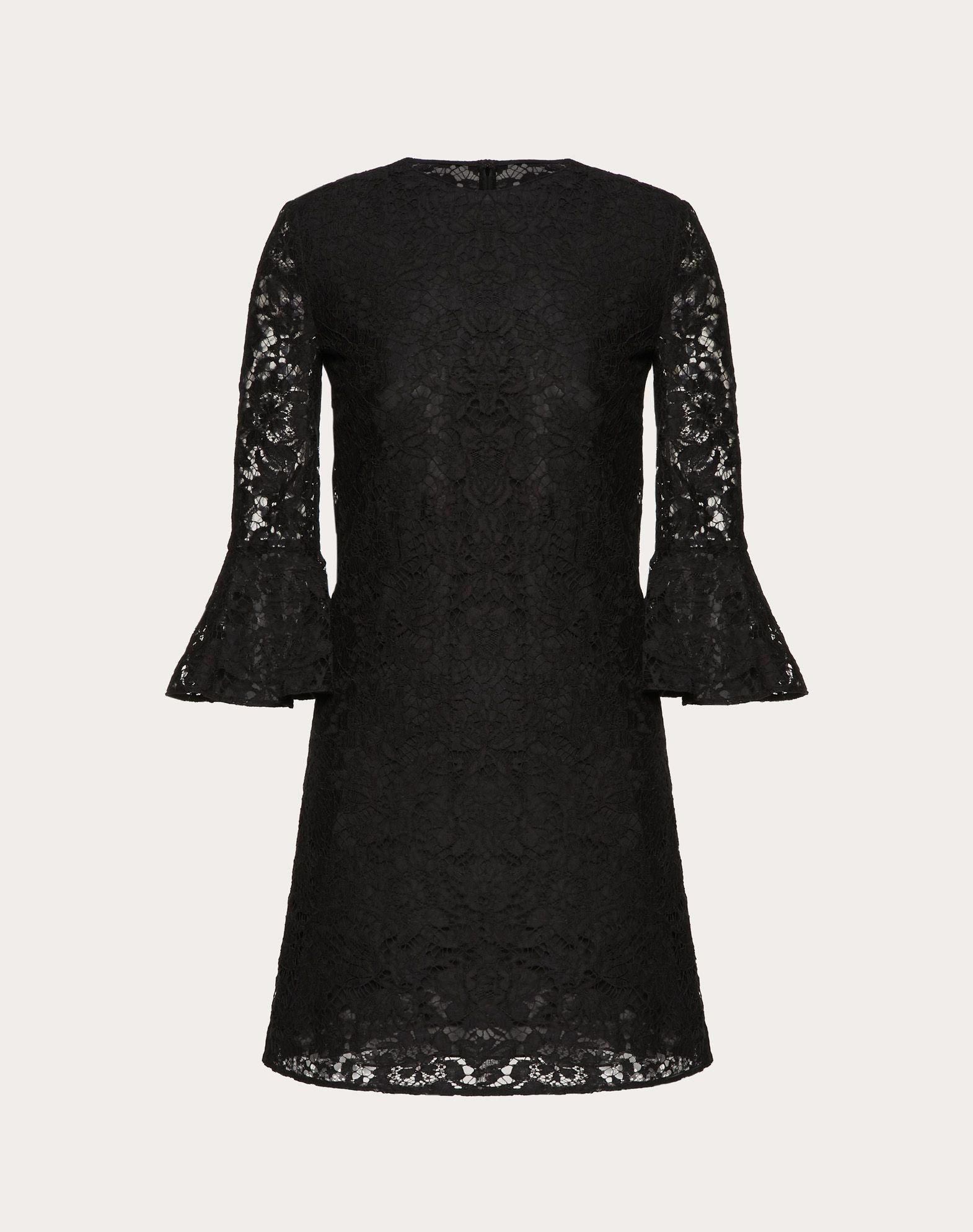 VALENTINO Lace Basic solid colour Round collar Hook-and-bar, zip Rear closure Fully lined 3/4 length sleeves  34805287lk