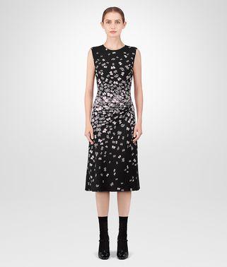 黑色三醋酯纤维连衣裙