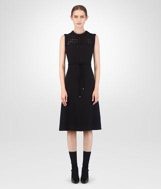 黑色意大利绉绸连衣裙