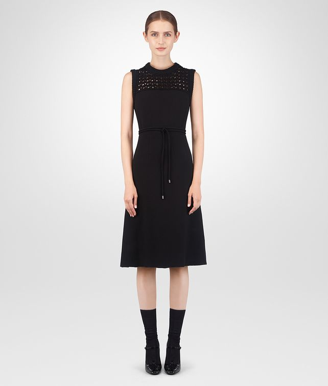 BOTTEGA VENETA NERO CRÊPE ITALIEN DRESS Dress Woman fp