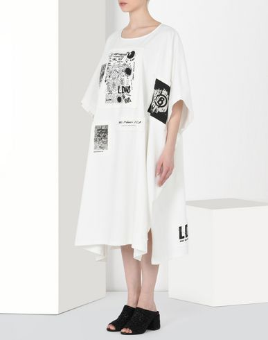 MM6 MAISON MARGIELA Long dress Woman Cotton sweatshirt dress f