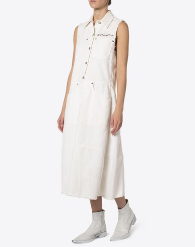 MM6 MAISON MARGIELA Long dress Woman Deconstructed white denim dress f
