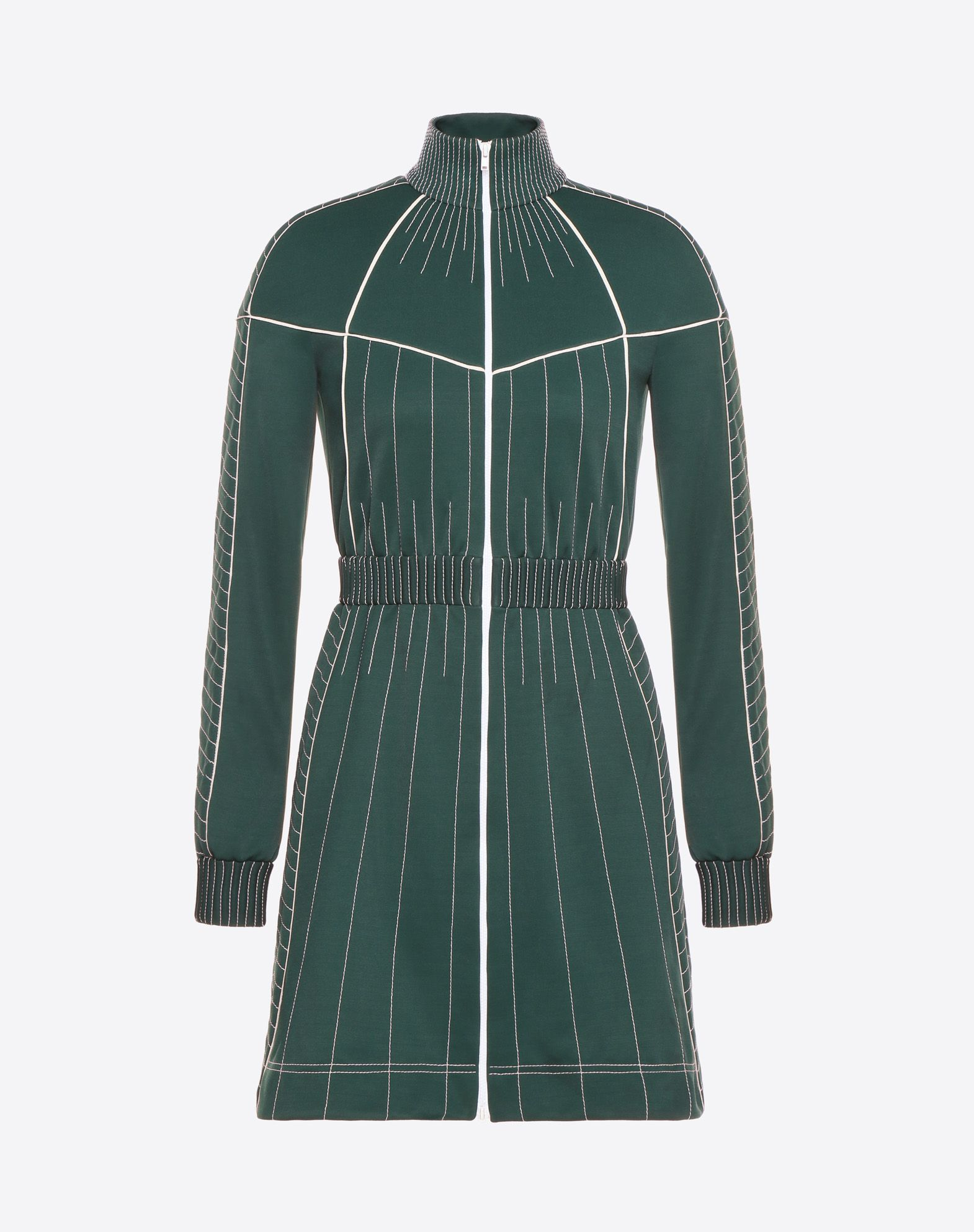 VALENTINO Turtleneck Elasticised cuffs Zip Semi-lined Long sleeves Synthetic jersey  34805647jt
