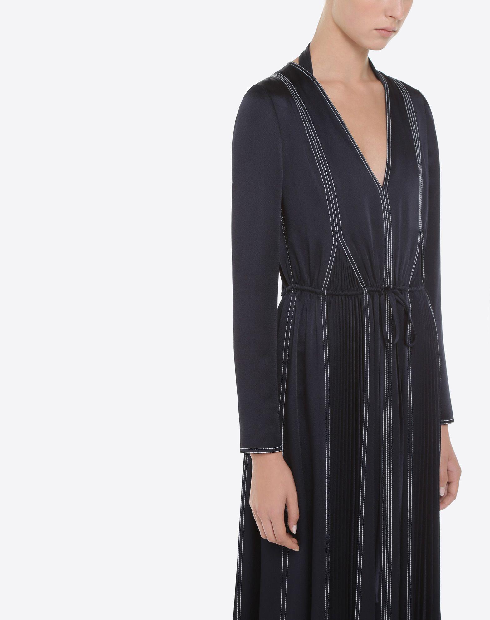 VALENTINO Hammered Satin Dress Dress D a