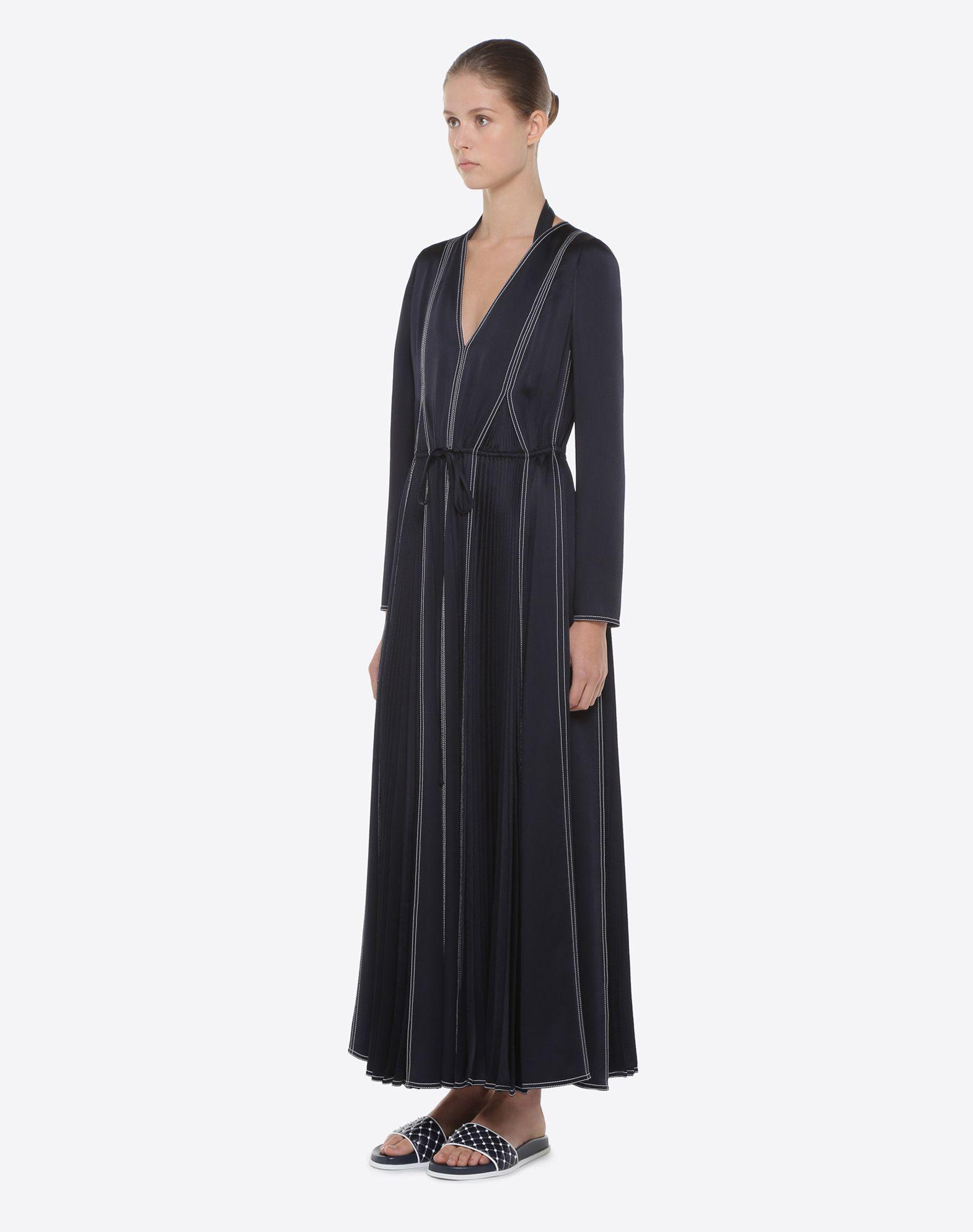 VALENTINO Hammered Satin Dress Dress D d