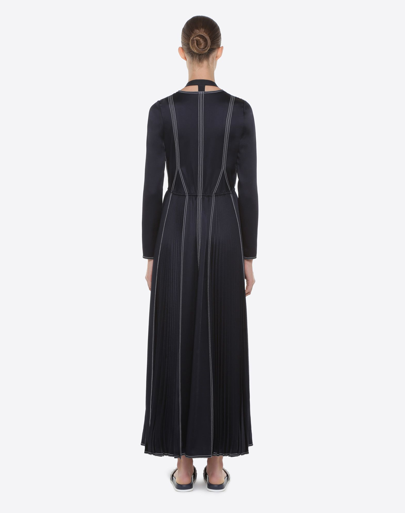 VALENTINO Hammered Satin Dress Dress D e