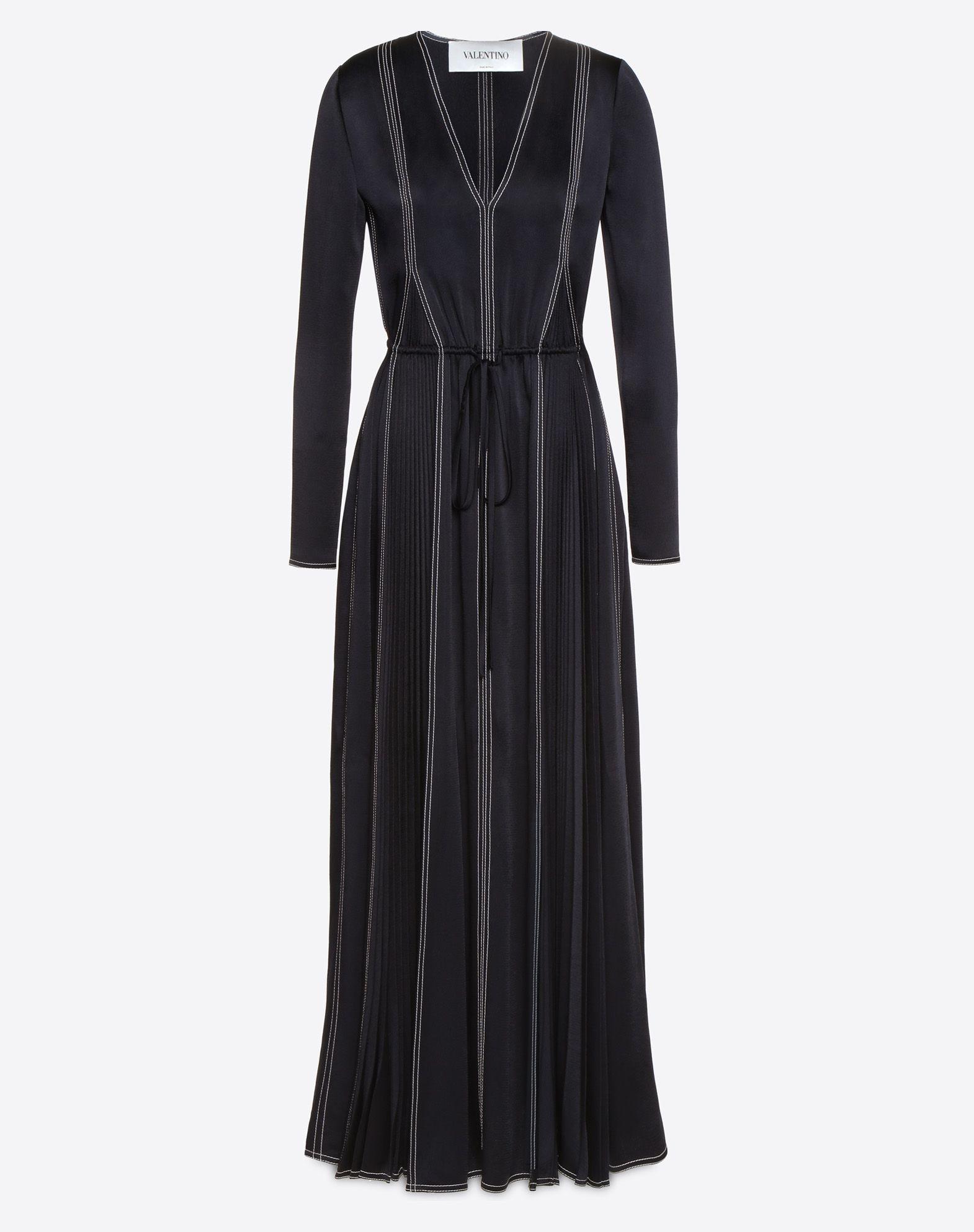 VALENTINO Hammered Satin Dress Dress D f