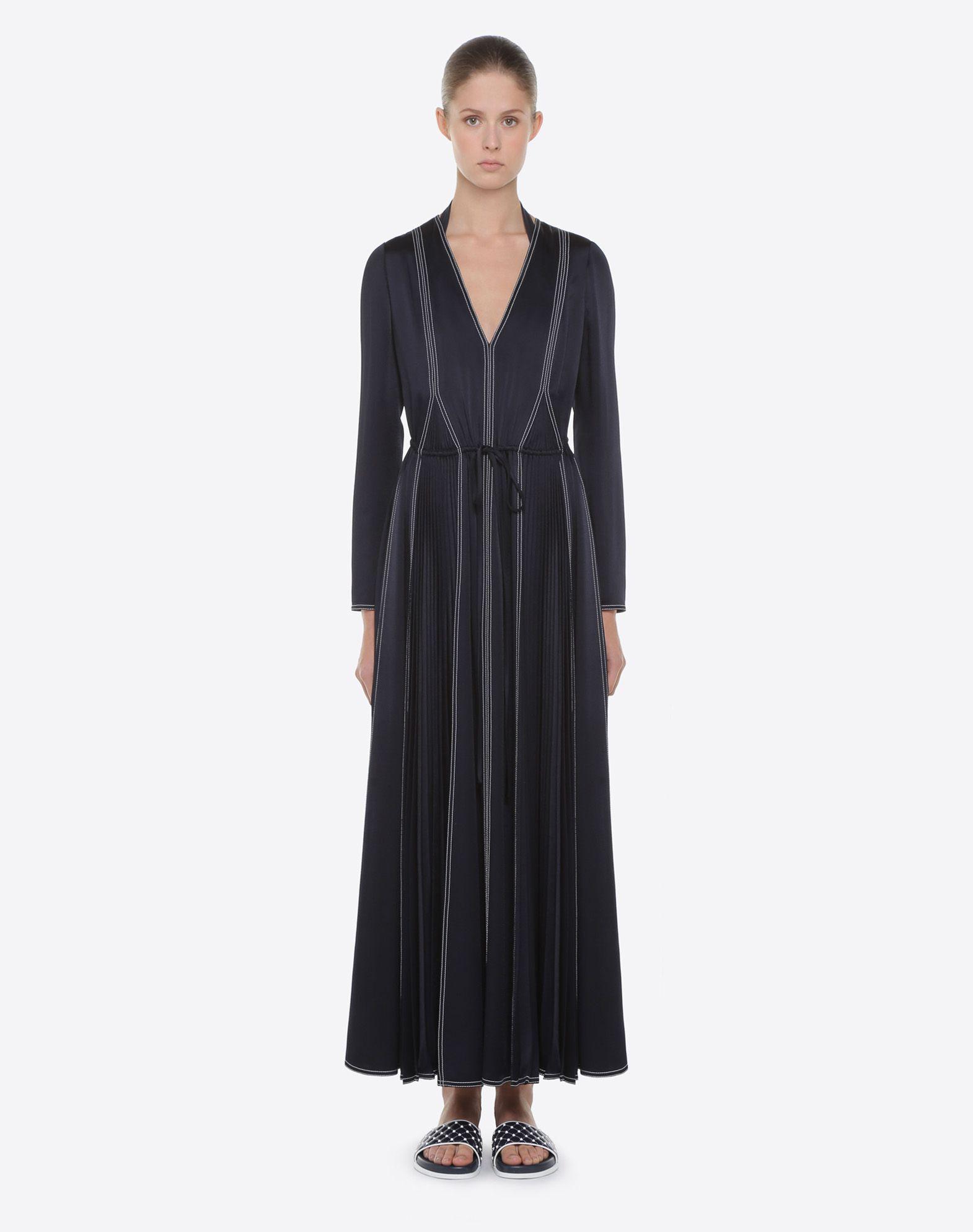 VALENTINO Hammered Satin Dress Dress D r
