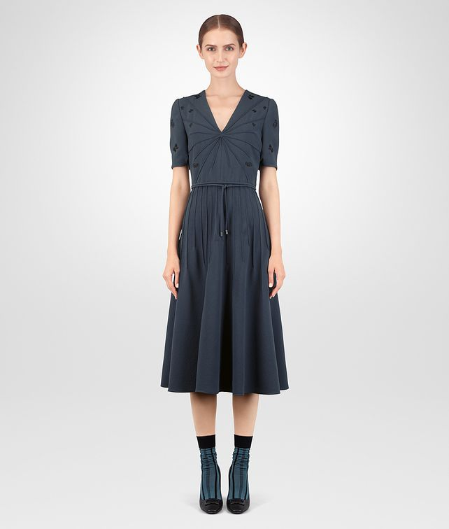 BOTTEGA VENETA ROBE EN VISCOSE DENIM Robe Femme fp