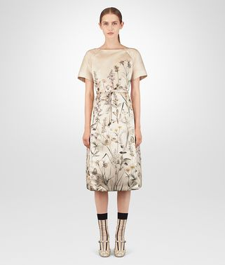 BOTANICAL PRINT TECH DUCHESSE DRESS