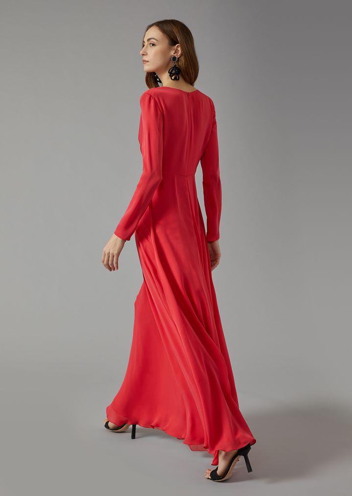 LONG SILK DRESS   Woman   Giorgio Armani
