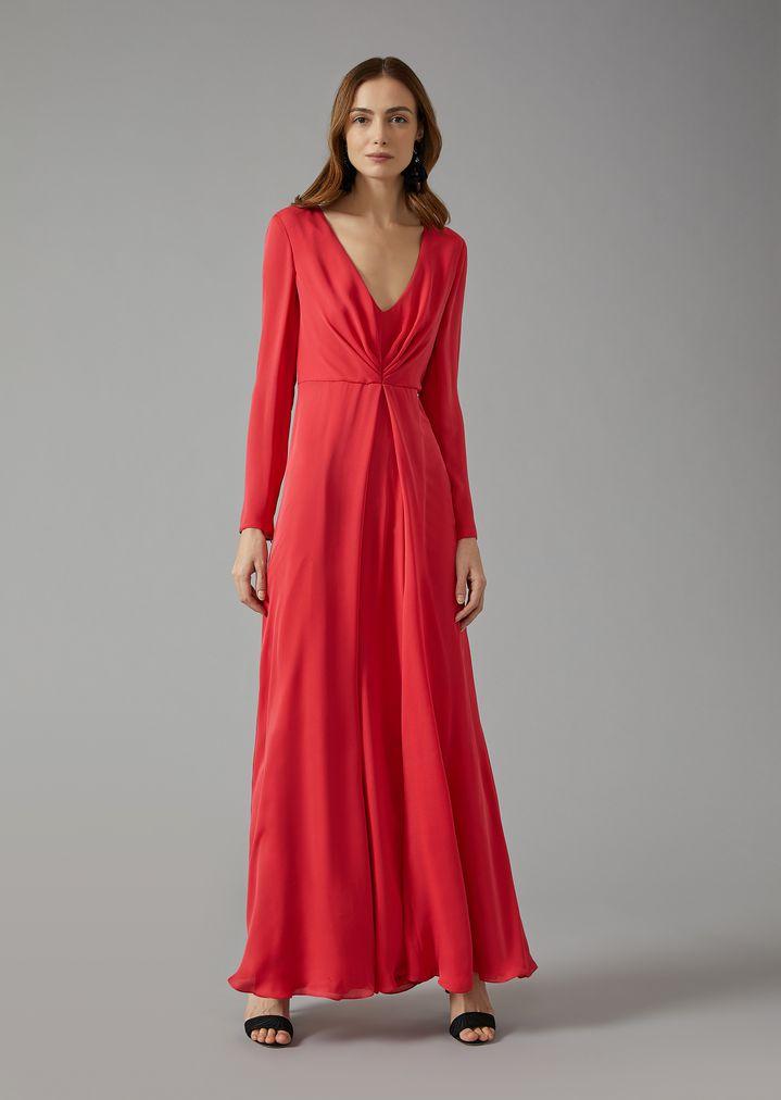 LONG SILK DRESS | Woman | Giorgio Armani