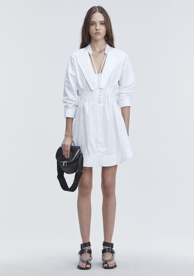 ALEXANDER WANG new-arrivals-ready-to-wear-woman DECONSTRUCTED POPLIN DRESS