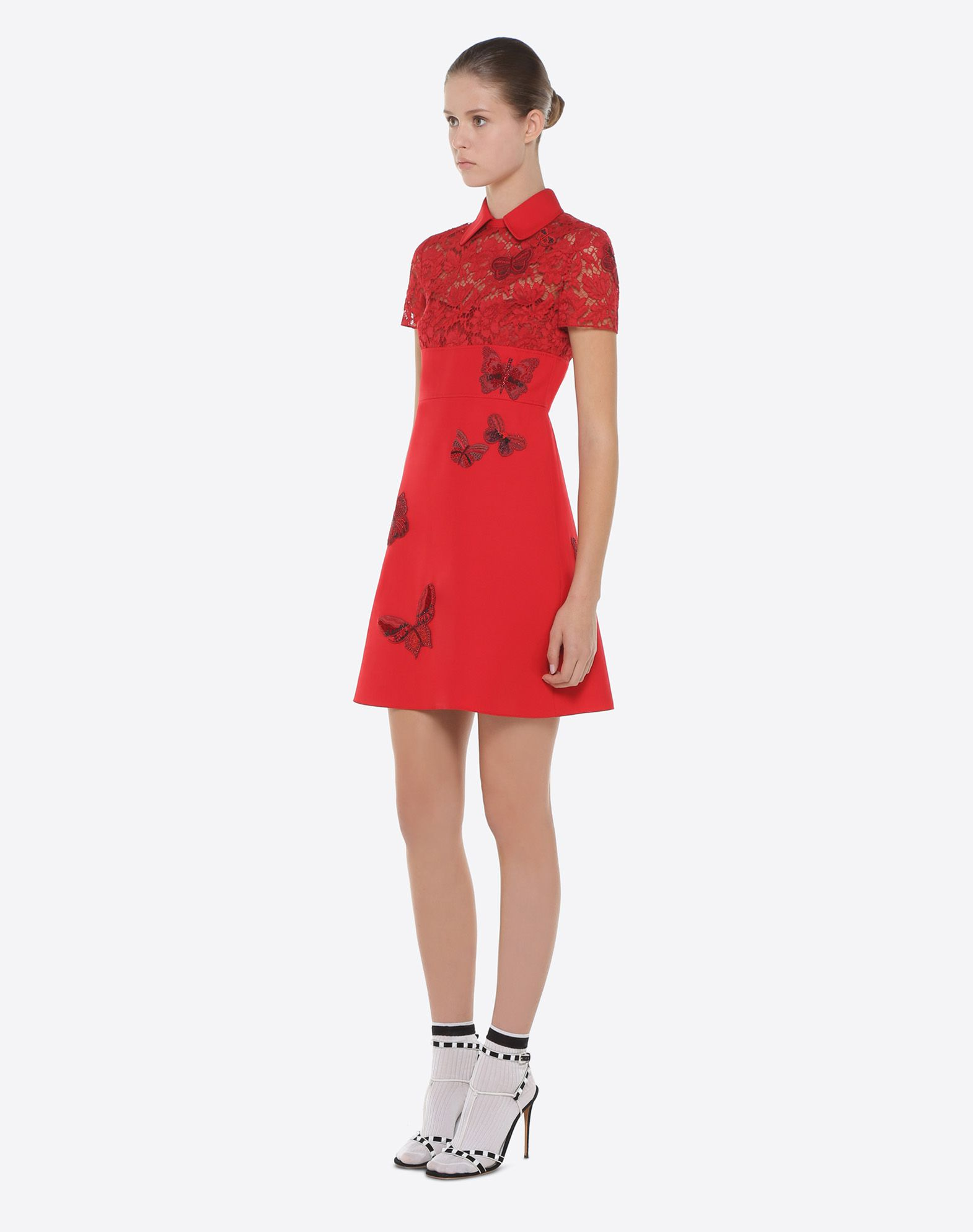 VALENTINO Dress with embroidered butterflies Embroidered dress D d