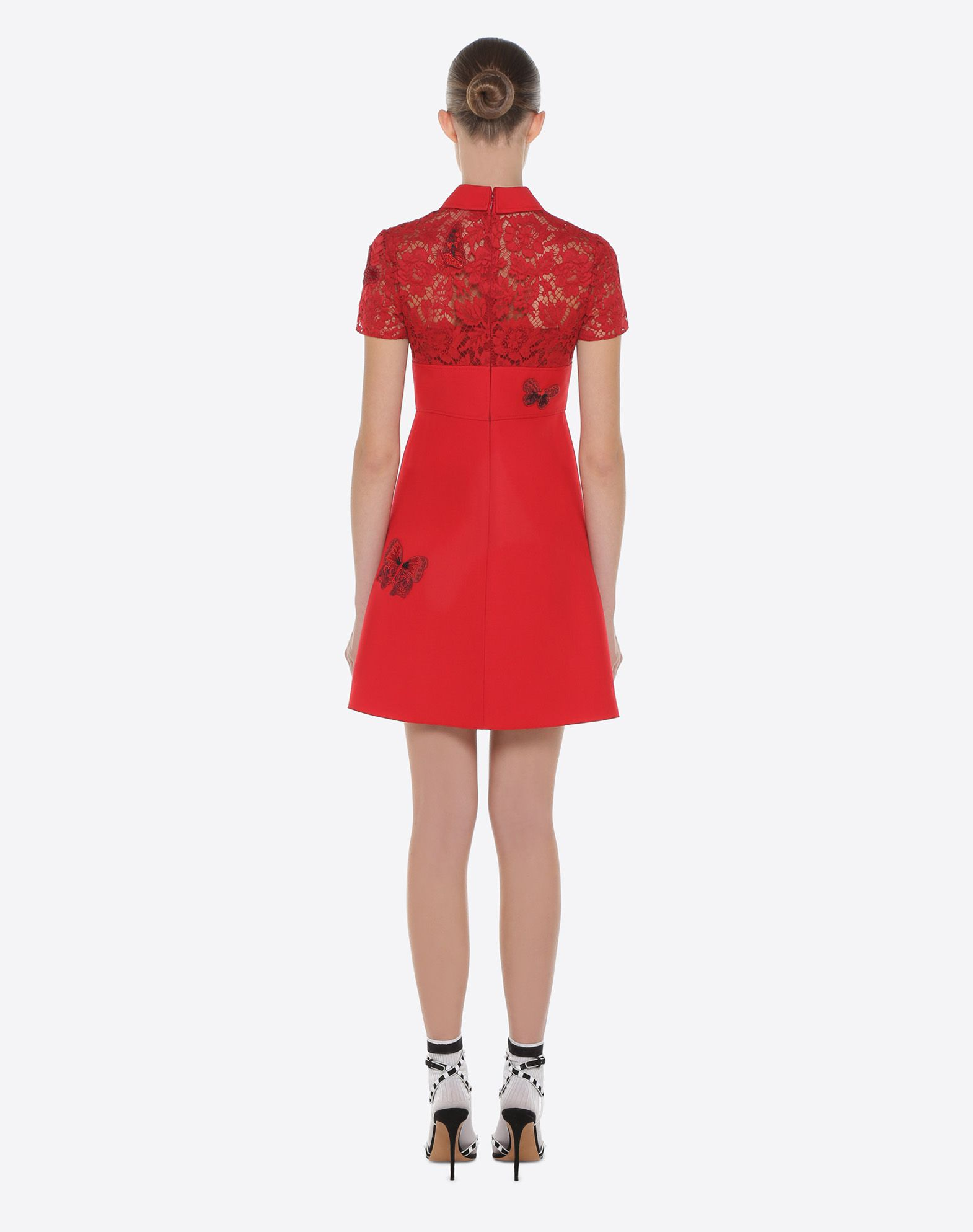 VALENTINO Dress with embroidered butterflies Embroidered dress D e