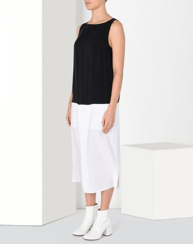 MM6 MAISON MARGIELA Long dress Woman Mid-length cupro dress f