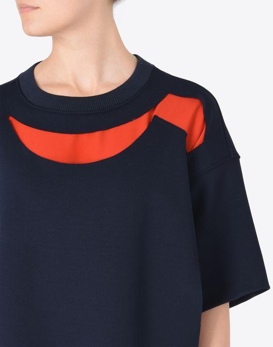 MAISON MARGIELA Jersey t-shirt dress with cut-outs Short dress Woman b