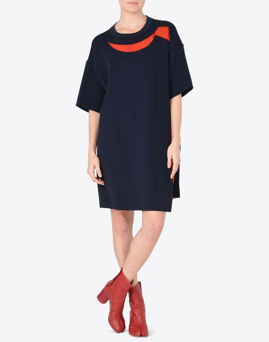 MAISON MARGIELA Jersey t-shirt dress with cut-outs Short dress Woman d