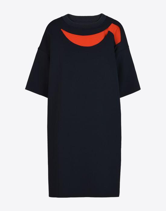 MAISON MARGIELA Jersey t-shirt dress with cut-outs Short dress Woman f
