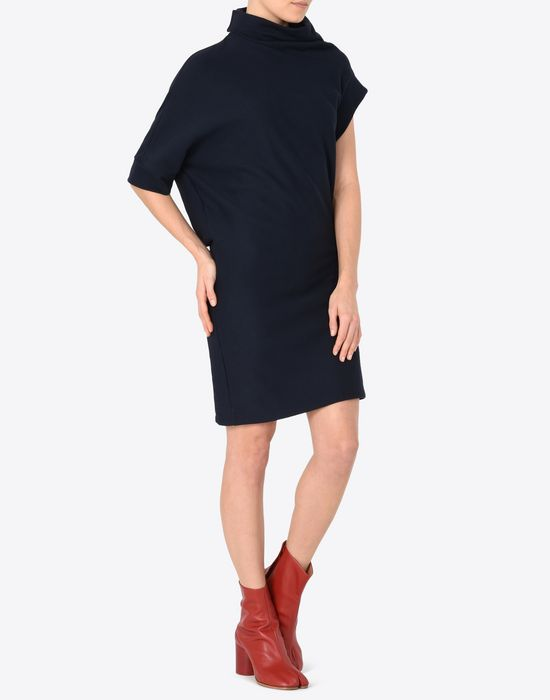 MAISON MARGIELA Asymmetric sweatshirt dress 3/4 length dress Woman d