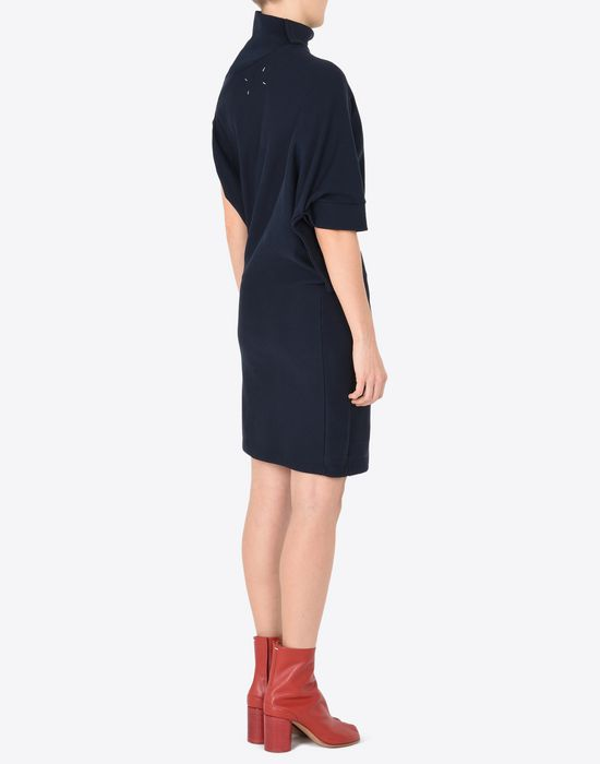 MAISON MARGIELA Asymmetric sweatshirt dress 3/4 length dress Woman e