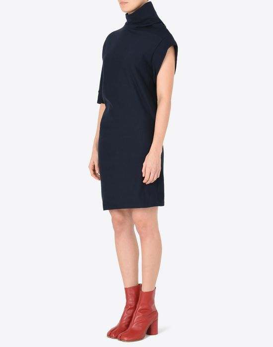 MAISON MARGIELA Asymmetric sweatshirt dress 3/4 length dress Woman r