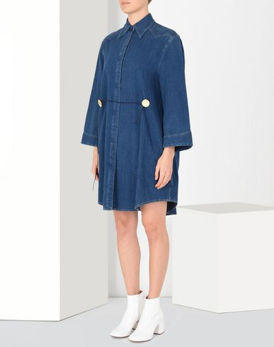 MM6 MAISON MARGIELA Short dress Woman Twist tie denim dress f