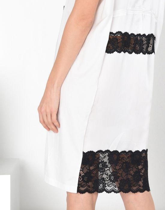 MM6 MAISON MARGIELA Cotton dress with lace panels Short dress Woman a