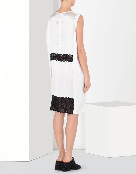 MM6 MAISON MARGIELA Cotton dress with lace panels Short dress Woman d