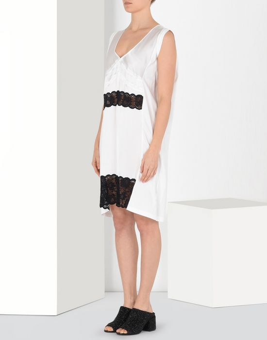 MM6 MAISON MARGIELA Cotton dress with lace panels Short dress Woman f