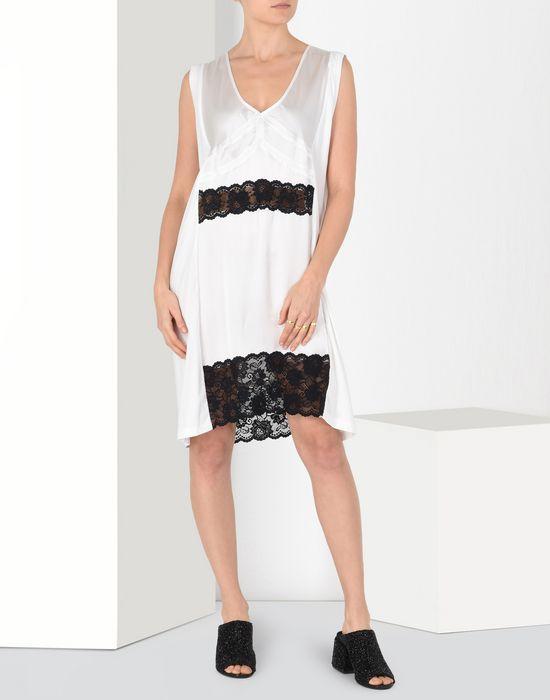 MM6 MAISON MARGIELA Cotton dress with lace panels Short dress Woman r