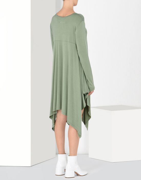MM6 MAISON MARGIELA Draped asymmetric jersey dress  Short dress Woman d
