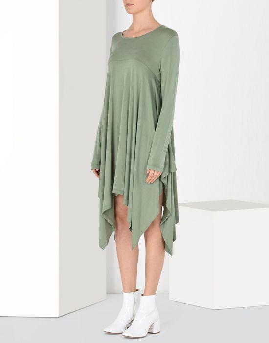 MM6 MAISON MARGIELA Draped asymmetric jersey dress  Short dress Woman f