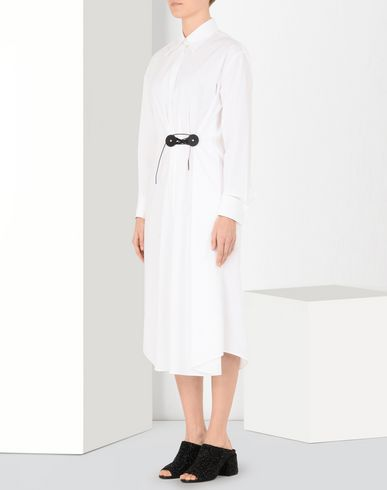 MM6 MAISON MARGIELA Long dress Woman Twist tie trench dress f