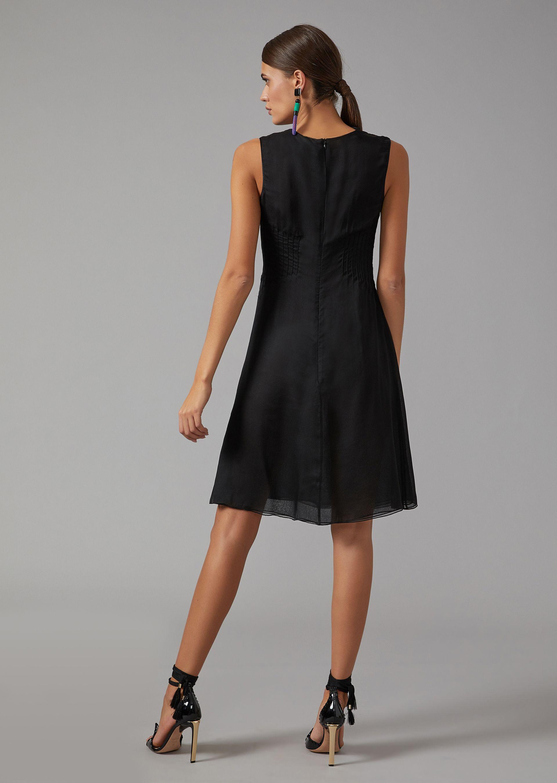 Silk Crepe Dress for Women   Giorgio Armani