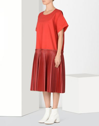 MM6 MAISON MARGIELA 3/4 length dress Woman Drop waist pleated dress f