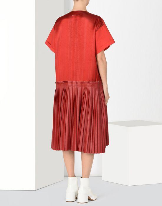 MM6 MAISON MARGIELA Drop waist pleated dress 3/4 length dress [*** pickupInStoreShipping_info ***] d