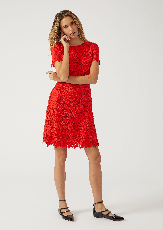 EMPORIO ARMANI Macramé lace dress Dress D f