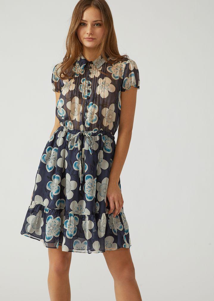 f65d72a48d8b Floral silk chiffon dress