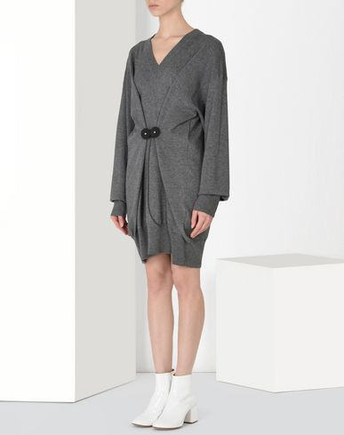 MM6 MAISON MARGIELA Short dress Woman Twist tie sweater dress f
