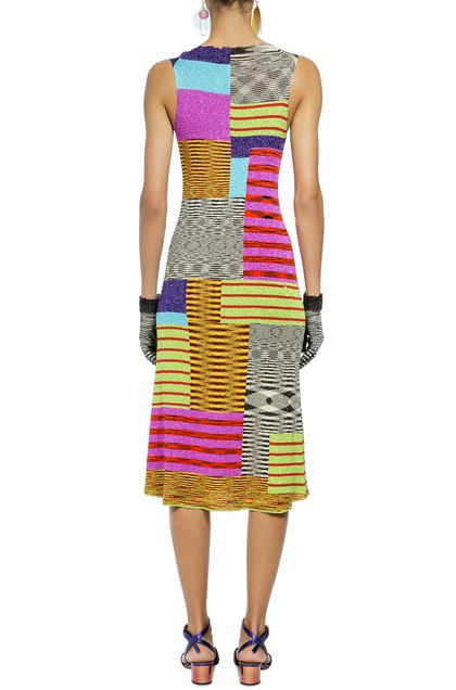 MISSONI Long dress Fuchsia Woman - Front