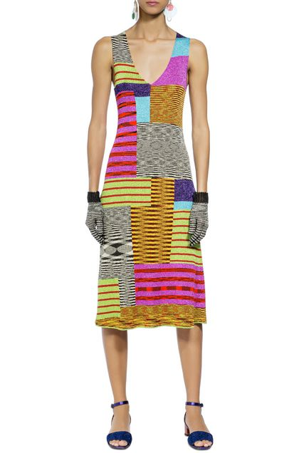 MISSONI Long dress Fuchsia Woman - Back