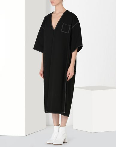 MM6 MAISON MARGIELA 3/4 length dress Woman Oversized cotton dress f