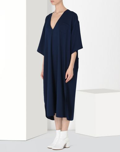 MM6 MAISON MARGIELA 3/4 length dress Woman Oversized V-neck dress f