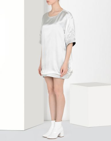 MM6 MAISON MARGIELA Short dress Woman Satin T-shirt dress f