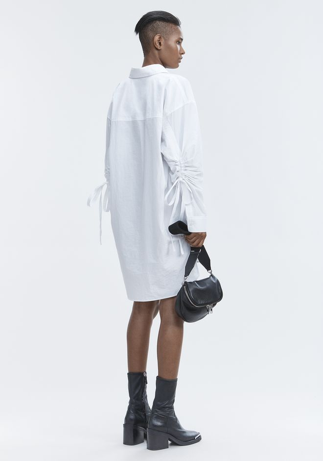 T by ALEXANDER WANG Short Dresses LONG SLEEVE SHIRTDRESS