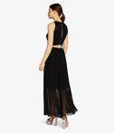 KARL LAGERFELD Maxi Dress W/ Pleated Skirt 8_d