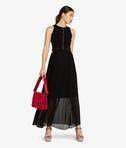 KARL LAGERFELD Maxi Dress W/ Pleated Skirt 8_e