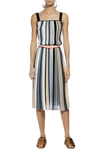 MISSONI Dress Sky blue Woman - Back