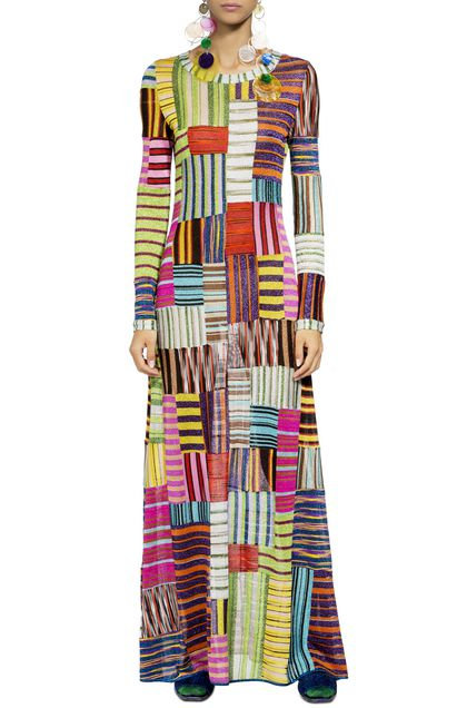 MISSONI Long dress Green Woman - Back